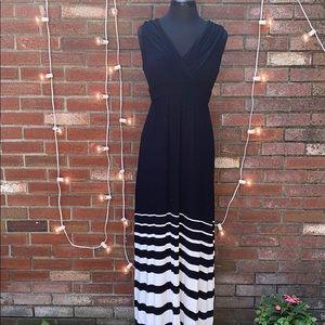 Soma Maxi Dress Striped Bottom Comfortable and Sof
